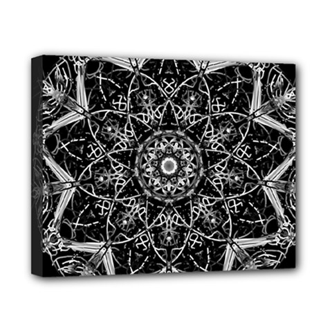 Black And White Pattern Canvas 10  X 8  (stretched)
