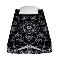 Black And White Pattern Fitted Sheet (single Size)