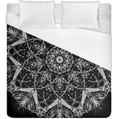 Black And White Pattern Duvet Cover (king Size)