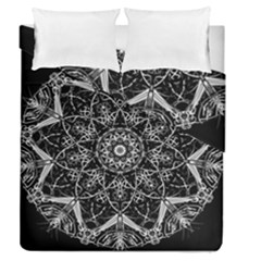 Black And White Pattern Duvet Cover Double Side (queen Size)