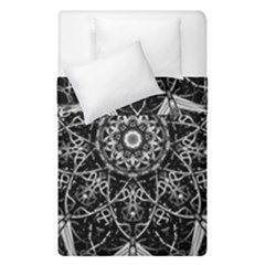 Black And White Pattern Duvet Cover Double Side (single Size)