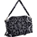 Black And White Pattern Canvas Crossbody Bag View1
