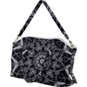 Black And White Pattern Canvas Crossbody Bag View2