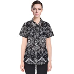 Black And White Pattern Women s Short Sleeve Shirt