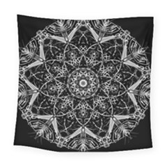 Black And White Pattern Square Tapestry (large)