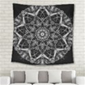Black And White Pattern Square Tapestry (Large) View2
