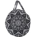 Black And White Pattern Giant Round Zipper Tote View1