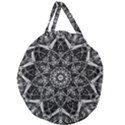 Black And White Pattern Giant Round Zipper Tote View2