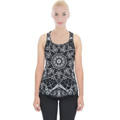 Black And White Pattern Piece Up Tank Top