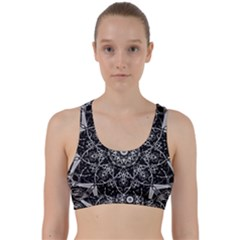 Black And White Pattern Back Weave Sports Bra