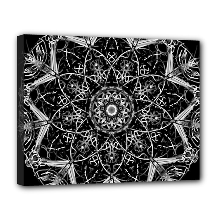 Black And White Pattern Canvas 14  x 11  (Stretched)