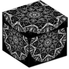 Black And White Pattern Storage Stool 12