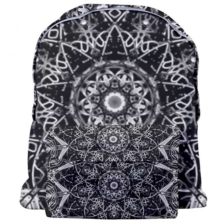 Black And White Pattern Giant Full Print Backpack