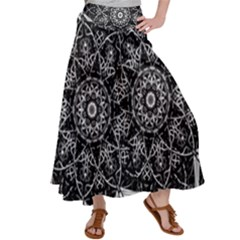 Black And White Pattern Satin Palazzo Pants by Sobalvarro