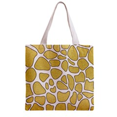 Maculato Gold Zipper Grocery Tote Bag
