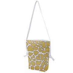 Maculato Gold Folding Shoulder Bag