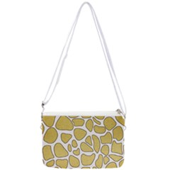Maculato Gold Double Gusset Crossbody Bag
