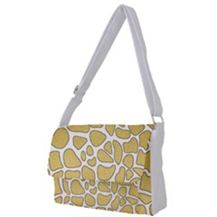 Maculato Gold Full Print Messenger Bag (l)