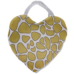 Maculato Gold Giant Heart Shaped Tote