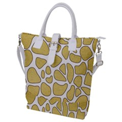 Maculato Gold Buckle Top Tote Bag
