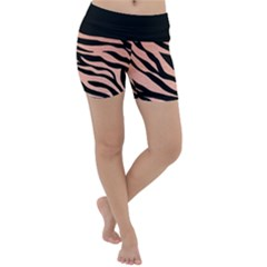 Tiger Gold Rose  Lightweight Velour Yoga Shorts
