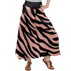 Tiger Gold Rose  Satin Palazzo Pants