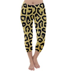 Ghepard Gold  Capri Winter Leggings
