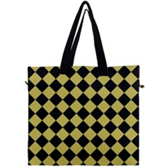 Block Fiesta Black And Ceylon Yellow Canvas Travel Bag by FashionLane