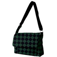 Block Fiesta Black And Eden Green Full Print Messenger Bag (l) by FashionLane