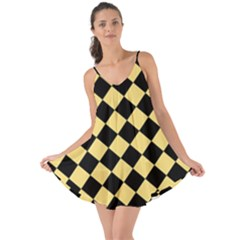 Block Fiesta Black And Mellow Yellow Love The Sun Cover Up by FashionLane