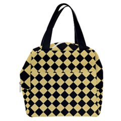 Block Fiesta Black And Mellow Yellow Boxy Hand Bag