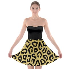 Ghepard Gold  Strapless Bra Top Dress