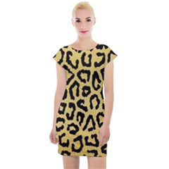 Ghepard Gold  Cap Sleeve Bodycon Dress by AngelsForMe