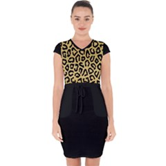 Ghepard Gold  Capsleeve Drawstring Dress
