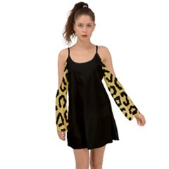 Ghepard Gold  Kimono Sleeves Boho Dress