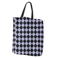 Block Fiesta Black And Silver Grey Giant Grocery Tote by FashionLane