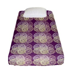Doily Only Pattern Purple Fitted Sheet (single Size)