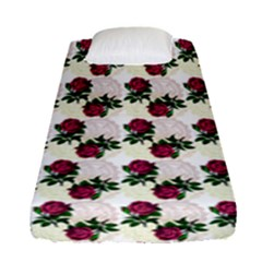 Doily Rose Pattern White Fitted Sheet (single Size)