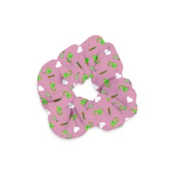 Green Elephant Pattern Mauve Velvet Scrunchie