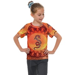 Wonderful Chinese Dragon Kids  Mesh Piece Tee