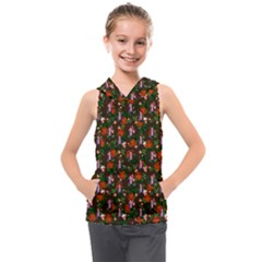 Fiola Pattern Brown Kids  Sleeveless Hoodie by snowwhitegirl