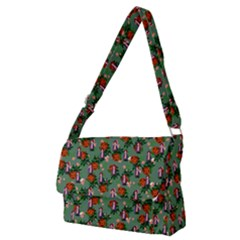Fiola Pattern Green Full Print Messenger Bag (m)