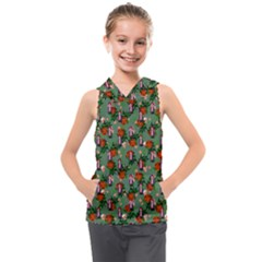 Fiola Pattern Green Kids  Sleeveless Hoodie by snowwhitegirl