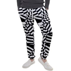 Black And White Crazy Pattern Men s Jogger Sweatpants by Sobalvarro