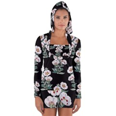 Floral Vintage Wallpaper Pattern 1516863120hfa Long Sleeve Hooded T-shirt