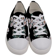 Floral Vintage Wallpaper Pattern 1516863120hfa Women s Low Top Canvas Sneakers
