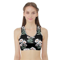 Floral Vintage Wallpaper Pattern 1516863120hfa Sports Bra With Border