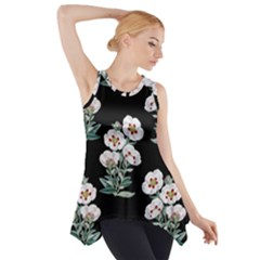 Floral Vintage Wallpaper Pattern 1516863120hfa Side Drop Tank Tunic