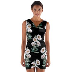 Floral Vintage Wallpaper Pattern 1516863120hfa Wrap Front Bodycon Dress