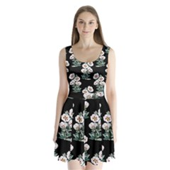 Floral Vintage Wallpaper Pattern 1516863120hfa Split Back Mini Dress